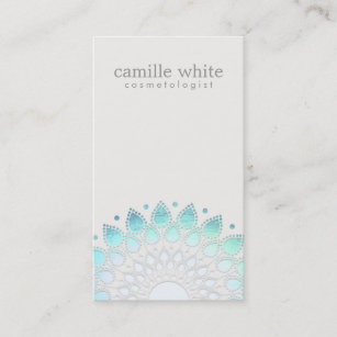 Off white business cards templates zazzle cosmetology elegant circle light blue off white business card colourmoves