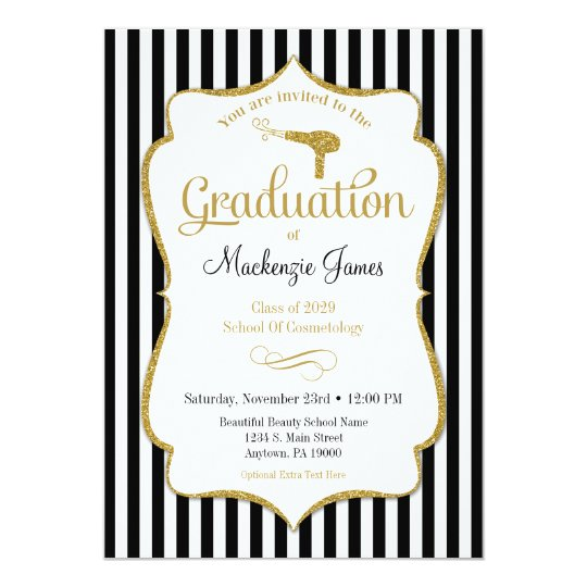 cosmetology graduation announcement invitation zazzle com