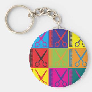 Cosmetology Pop Art Basic Round Button Keychain