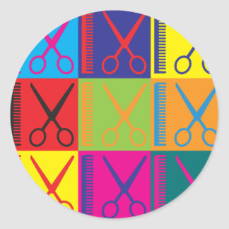 Cosmetology Pop Art Classic Round Sticker