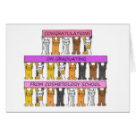 Cosmetology school graduate congratulations. greeting card