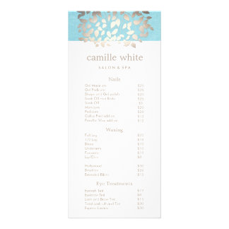 Cosmetology Silver Leaves Salon Price List Menu 2