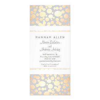 Cosmetology Spa and Salon Gold Circles Menu Rack Cards