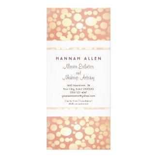 Cosmetology Spa Gold Circles Linen Look Rack Card