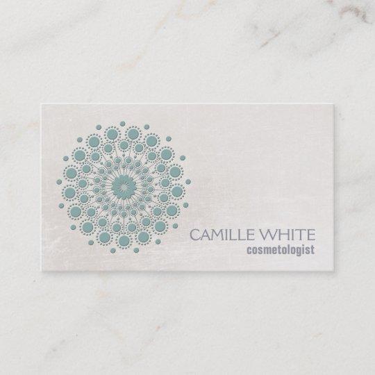 Cosmetology teal circle ivory texture elegant spa business card cosmetology teal circle ivory texture elegant spa business card colourmoves