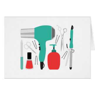 Cosmetology Tools Card