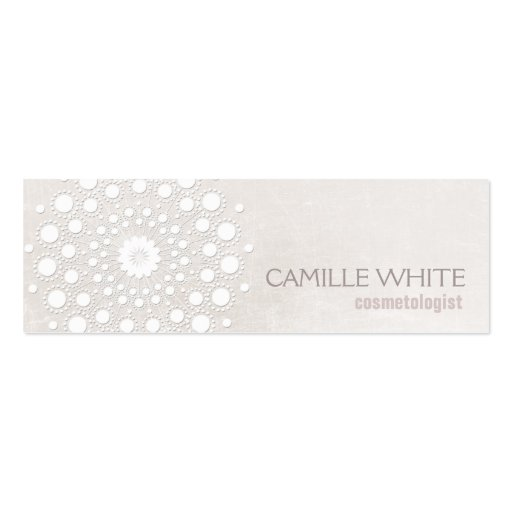 Aesthetic business card templates page3 bizcardstudio cosmetology white circle ivory texture elegant spa business card templates reheart Choice Image