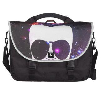 Cosmic Afro Laptop Messenger Bag