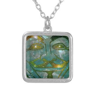 Cosmic Anon Square Pendant Necklace