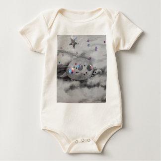 Cosmic Armadillo CricketDiane Art & Design Baby Bodysuit