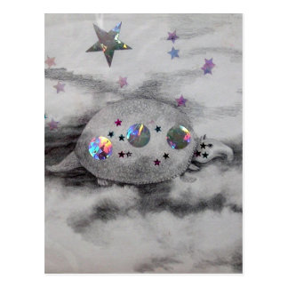 Cosmic Armadillo CricketDiane Art Design Post Cards