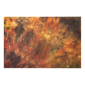 Cosmic Art-interstellar space rainbow stars Wood Wall Decor