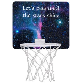 Cosmic Ballerina in space NASA Mini Basketball Hoop