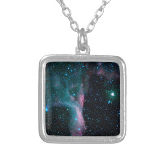 Cosmic Ballerina in space NASA Silver Plated Necklace