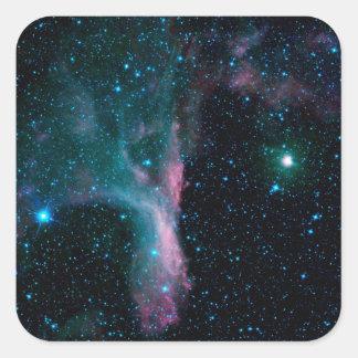 Cosmic Ballerina in space NASA Square Sticker