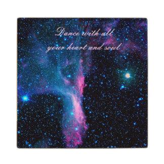 Cosmic Ballerina in space NASA Wooden Coaster