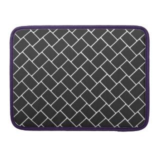 Cosmic Black Basket Weave Sleeve For MacBook Pro