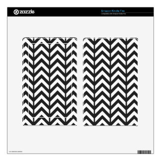Cosmic Black chevron 3 Decal For Kindle Fire