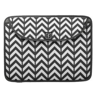 Cosmic Black Chevron 3 MacBook Pro Sleeves