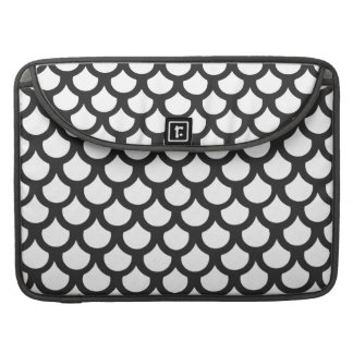 Cosmic Black Fish Scale 1 Sleeve For MacBook Pro