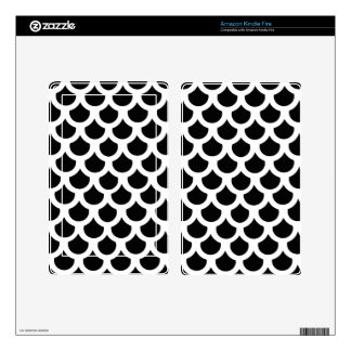 Cosmic Black Fish Scale 2 Skins For Kindle Fire