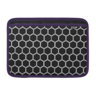 Cosmic Black Hexagon 1 MacBook Sleeves