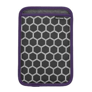 Cosmic Black Hexagon 1 Sleeve For iPad Mini