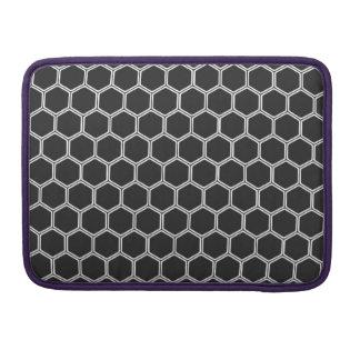 Cosmic Black Hexagon 1 Sleeve For MacBook Pro