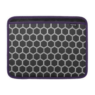 Cosmic Black Hexagon 1 Sleeves For MacBook Air