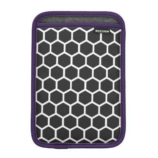 Cosmic Black Hexagon 2 iPad Mini Sleeve