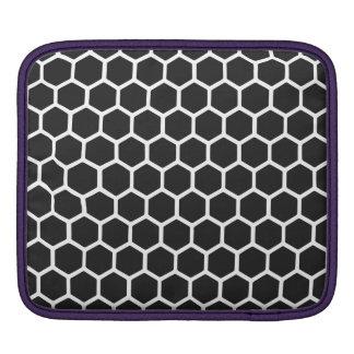 Cosmic Black Hexagon 2 Sleeve For iPads