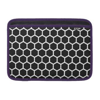 Cosmic Black Hexagon 2 Sleeves For MacBook Air