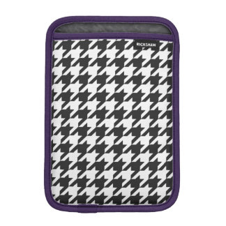 Cosmic Black Houndstooth 1 iPad Mini Sleeve