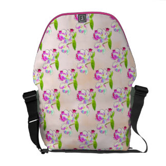 Cosmic Blossoms Tiled Courier Bag
