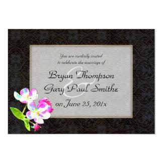 Cosmic Blossoms WEDDING Card