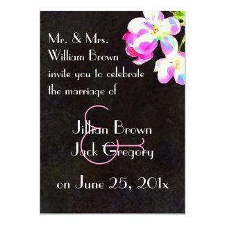 Cosmic Blossoms Wedding invitation