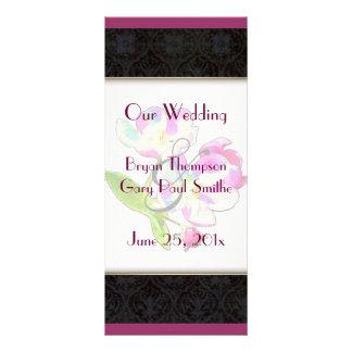 Cosmic Blossoms WEDDING Program Full Color Rack Card