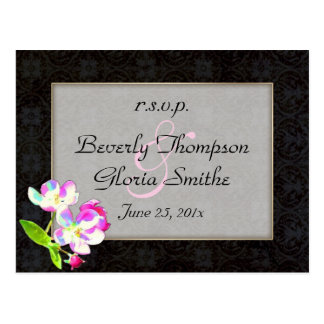 Cosmic Blossoms Wedding RSVP Post Cards