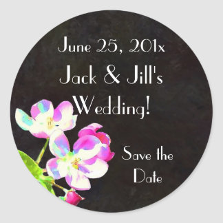 Cosmic Blossoms WEDDING Save the Date sticker