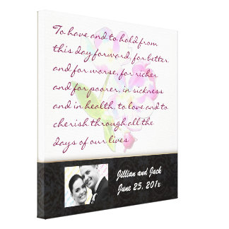 Cosmic Blossoms WEDDING VOWS Display Canvas Print
