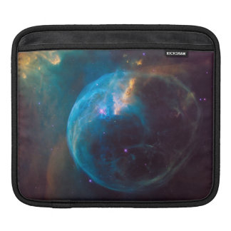 Cosmic Blue Bubble Nebula SpaceHD Sleeve For iPads