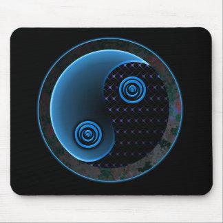 Cosmic Blue in Balance Yin Yang Mouse Pad
