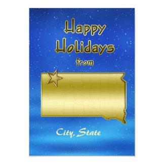 Cosmic Blue Sky South Dakota Map Custom Invitation