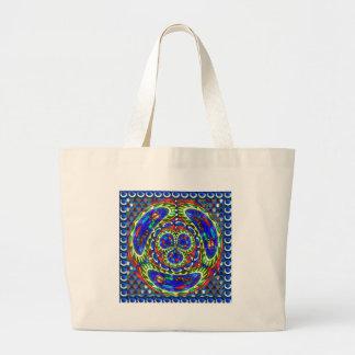 Cosmic Blue Spiritual Ghost Art by Navin Joshi Large Tote Bag