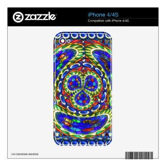 Cosmic Blue Spiritual Ghost Art by Navin Joshi Skin For iPhone 4S