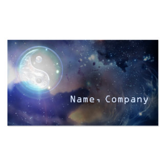 Cosmic Blue Yin Yang Double-Sided Standard Business Cards (Pack Of 100)