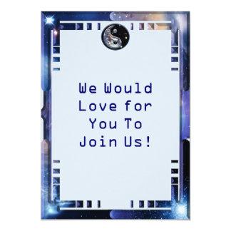 Cosmic Blue Yin Yang Personalized Invitation