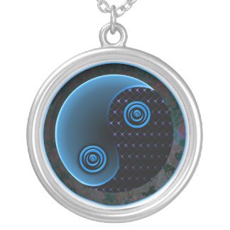 Cosmic Blue Yin Yang Necklace
