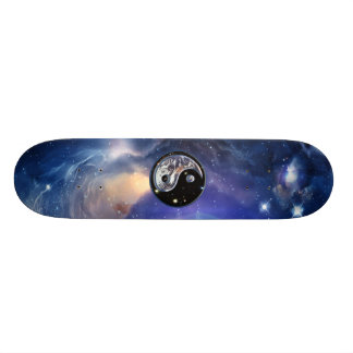 Cosmic Blue Yin Yang Skate Boards