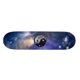 Cosmic Blue Yin Yang Skateboard Deck